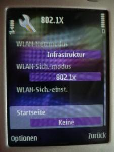 WLAN-Sich.-Modus: 802.1X